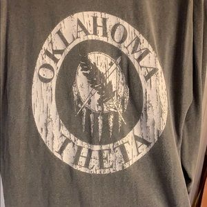 Oklahoma Theta Sorority Tee comfort colors